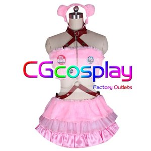 送料無料!! 激安!! すーぱーそにこ グルーミー熊 SUPER SONICO ピンク 暴力熊 コスプレ衣装|cgcos