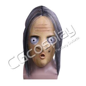 送料無料!! 激安!! ホラーマスク 怖い かぶりもの 鬼ババァ 鬼女 ハロウィン コスマスク コスプレ仮面 コスプレ衣装|cgcos