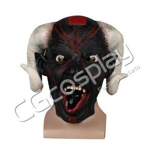 送料無料!! 激安!! ホラーマスク 怖い かぶりもの リアル ハロウィン 黒山羊 モンスター コスマスク コスプレ仮面 コスプレ衣装|cgcos