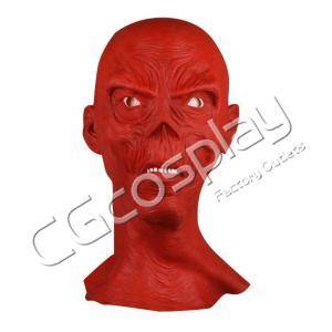 送料無料!! 激安!! ハロウィン 仮面 レッドスカル マスク かぶりもの コスマスク コスプレ仮面 コスプレ衣装|cgcos