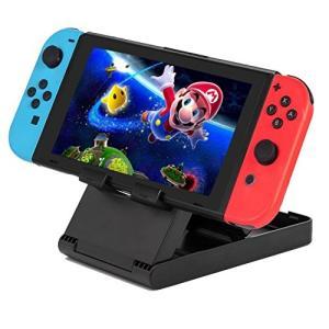 Nintendo Switch(スイッチ)用 マルチアングル プレイスタンド + Cloud Elevenクリーニングクロス 【3段階に角度調節|cgrt
