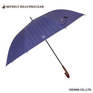 小川(Ogawa) 長傘 晴雨兼用日傘 ジャンプ式 70cm 8本骨 BHPC ビバリーヒルズポロクラブ ストライプ ネイビー UV加工 cgrt