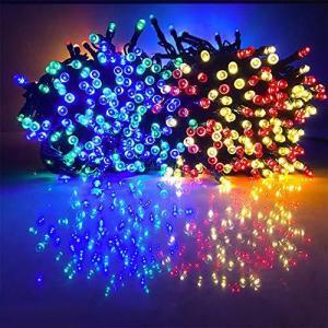 Gfoxmall ソーラーライト ledイルミネーションライト 防水 500球 50m クリスマス 飾り ライト パーティーライト 新年|cgrt