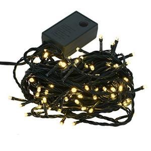 【シャンパンゴールド】イルミネーション LED クリスマスライト 屋外 屋内 100球 点灯パターン記憶メモリー付|cgrt