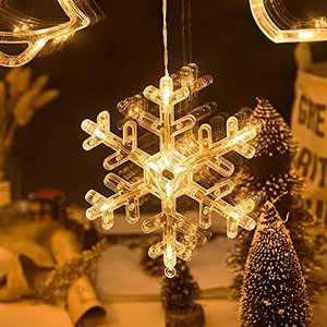 Areskey Christmas Lights Snowflake Motif スノーフレークモチーフイルミネーションライト 壁掛けスノーフレークオーナメ|cgrt