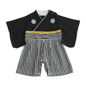 袴ロンパース 黒 60cm|cgrt