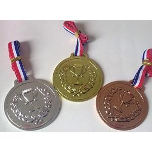 メダル セット 金メダル 銀メダル 銅メダル 各一個 6回分セット 合計18メダル ご褒美 お遊戯 運動会 幼稚園 に|cgrt