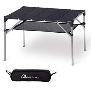 Moon Lence キャンプ テーブル アルミ ロールテーブル アウトドア ハイキング BBQ 折りたたみ式 コンパクト 超軽量|cgrt
