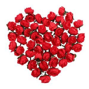 造花 バラ 50個 花ヘッド ローズ 薔薇 花 部分のみ 手芸 結婚式 装飾 cgrt