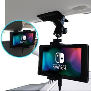 【Nanmara】車載用 Nintendo Switch クリップ ホルダー 強力クリップでしっかり固定 いろんな場所で使える スタンド|cgrt