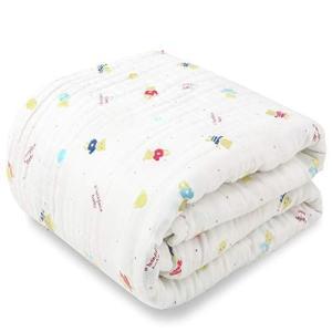 ベビー新生児 綿100% ベビーバスタオル 柔らかく 天然有機コットン 高密度6重ガーゼ 吸水性 瞬間乾き 敏感肌適|cgrt