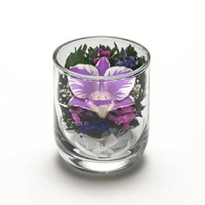 BIOグラスウェアオーキッドS 洋蘭仕様 プリザーブドフラワーガラスSサイズ ボックス付 お供え お悔み ペット 仏 cgrt