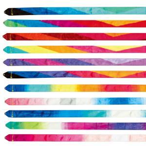 ●色鮮やかなグラデーションカラーで、躍動感のある演技を引き立たせるリボン。 ●柔軟加工を施し「ソフト...