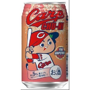 中国醸造 カープチューハイ ピンクグレープフルーツ C 350ml×1ケース(24本) ■3箱まで1個口発送可|chagatapark