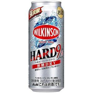 アサヒ ウィルキンソンハードナイン 無糖ドライ 500ml×1ケース(24本) ■2箱まで1個口発送可|chagatapark