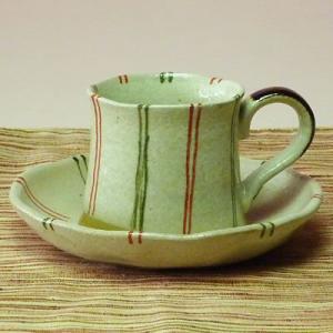 美濃焼ツートンラインコーヒーカップ(紅茶等)(メッセージカードサービスあり)|chagokorochaya