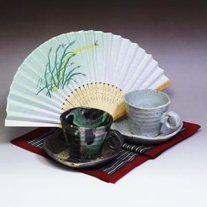 瀬戸焼自然流ペアコーヒーカップセット(メッセージカードサービスあり)|chagokorochaya