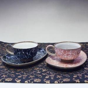 美濃焼一珍花紋珈琲碗皿(ペアコーヒーカップ、紅茶等)(メッセージカードサービスあり)|chagokorochaya
