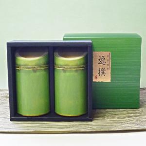 【新茶】【エコファーマー】伊勢玉露・高級煎茶150g竹割缶入詰合せギフト|chagokorochaya