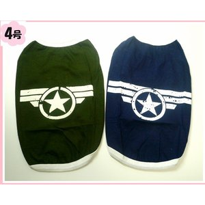 (犬服 ネコポス便) Tシャツ ウィンターソルジャー 4号(激安 ドッグウェア Tシャツ)|chaidee-wanwan