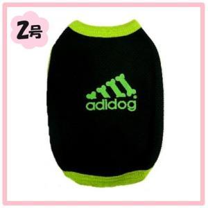 (犬服ネコポス便 )2号adidogドライTシャツブラック(激安 ドッグウェア Tシャツ)|chaidee-wanwan