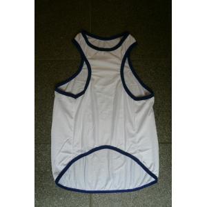 (犬服 ネコポス便)12号adidog メッシュタンク(白×紺) (激安 ドッグウェア Tシャツ)|chaidee-wanwan|02