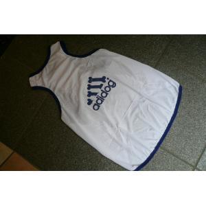 (犬服 ネコポス便)12号adidog メッシュタンク(白×紺) (激安 ドッグウェア Tシャツ)|chaidee-wanwan|04