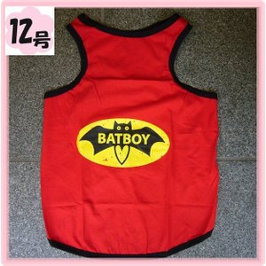 (犬服 ネコポス便)タンク BAT BOY 12号(激安 ドッグウェア Tシャツ)|chaidee-wanwan
