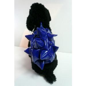 【犬グッズ・小型犬用】【送料込み】イガイガリュック エナメルブルー【犬用バッグ】|chaidee-wanwan