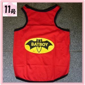 (犬服 ネコポス便)タンク BAT BOY 11号(激安 ドッグウェア Tシャツ)|chaidee-wanwan