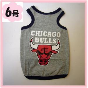 (犬服 ネコポス便)タンクトップ シカゴブルズ 6号(激安 ドッグウェア Tシャツ) chaidee-wanwan