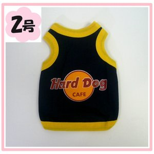 (犬服ネコポス便 )タンクトップ Hard Dog 2号(激安 ドッグウェア Tシャツ)|chaidee-wanwan