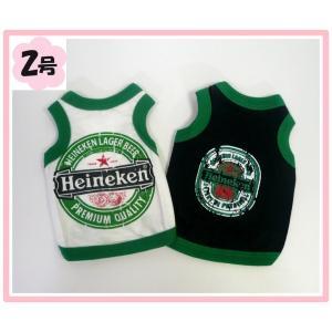 (犬服 ネコポス便)タンクトップ Heineken 2号(激安 ドッグウェア Tシャツ)|chaidee-wanwan