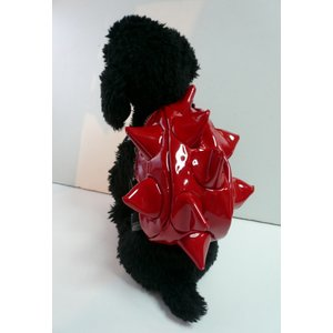 【犬グッズ・小型犬用】【送料込み】イガイガリュック エナメルレッド【犬用バッグ】|chaidee-wanwan