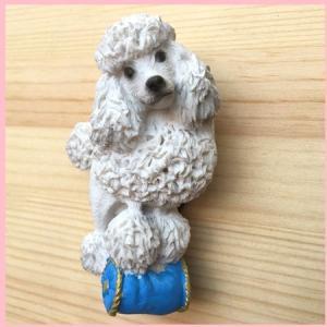 【ネコポス便】  マグネット ホワイトプードル  【犬グッズ  激安】|chaidee-wanwan