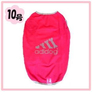 (犬服 ネコポス便)10号 メッシュTシャツ adidog ピンク  (激安 ドッグウェア Tシャツ)|chaidee-wanwan