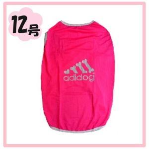 (犬服 ネコポス便)12号 メッシュTシャツ adidog ピンク (激安 ドッグウェア Tシャツ)|chaidee-wanwan