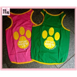 (犬服 ネコポス便) タンク ラブリー肉球 11号  (激安 ドッグウェア Tシャツ)|chaidee-wanwan