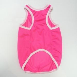 (犬服 ネコポス便)12号puwan メッシュタンク(ダメージロゴ蛍光ピンク) (激安 ドッグウェア Tシャツ)|chaidee-wanwan|02
