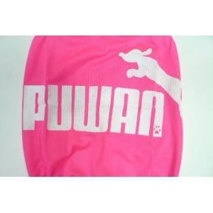 (犬服 ネコポス便)12号puwan メッシュタンク(ダメージロゴ蛍光ピンク) (激安 ドッグウェア Tシャツ)|chaidee-wanwan|03