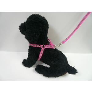 【ハーネス&リード】【ネコポス便】反射テープ付ピンク【激安・小型犬用】|chaidee-wanwan