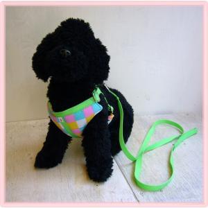 【ハーネス&リード】【ネコポス便】胸当てパット・3号パッチワーク風 パステル【小型犬用】|chaidee-wanwan