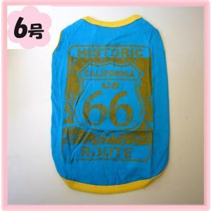 (犬服 ネコポス便)Tシャツ ルート66 6号(激安 ドッグウェア Tシャツ) chaidee-wanwan