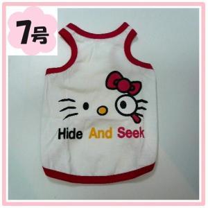 (犬服 ネコポス便)7号 タンクトップ ネコにゃん  (激安 ドッグウェア Tシャツ)|chaidee-wanwan