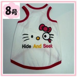 (犬服 ネコポス便)8号 タンクトップ ネコにゃん  (激安 ドッグウェア Tシャツ)|chaidee-wanwan