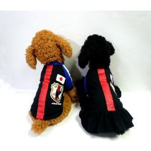 (犬服 ネコポス便)Tシャツ/ワンピ サッカー日本代表応援ウェア 4号(激安 ドッグウェア Tシャツ)|chaidee-wanwan|06