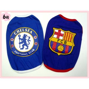 (犬服 ネコポス便)6号ワンTシャツ人気海外サッカーチームB (激安 ドッグウェア Tシャツ) chaidee-wanwan
