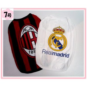 (犬服 送料無料)7号 Tシャツ 人気海外サッカーチーム(B) (激安 ドッグウェア Tシャツ)|chaidee-wanwan