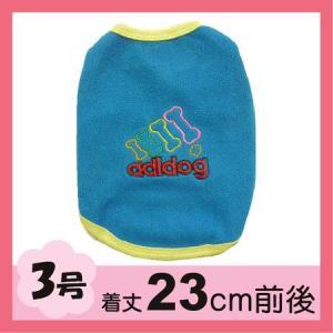 (犬服 ネコポス便) 3号 フリースワンT adidog(青)(激安 ドッグウェア)|chaidee-wanwan
