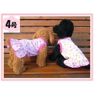 (犬服 送料無料)4号 ワンピ-ス・フラワーズ (激安 ドッグウェア Tシャツ)|chaidee-wanwan